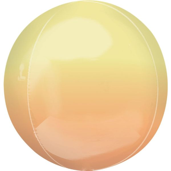 Ombre Yellow & Orange Round Orbz 15in Balloon